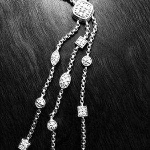 David Yurman Pave diamond necklace