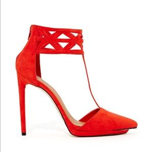 Shoe Cult Cage Match Pump - Poppy#65#
