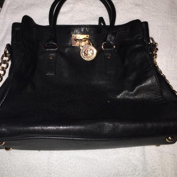 Black Mk bag w rose gold lock. M 545afded35d2db5a410a7d24 06f48bca1fddf