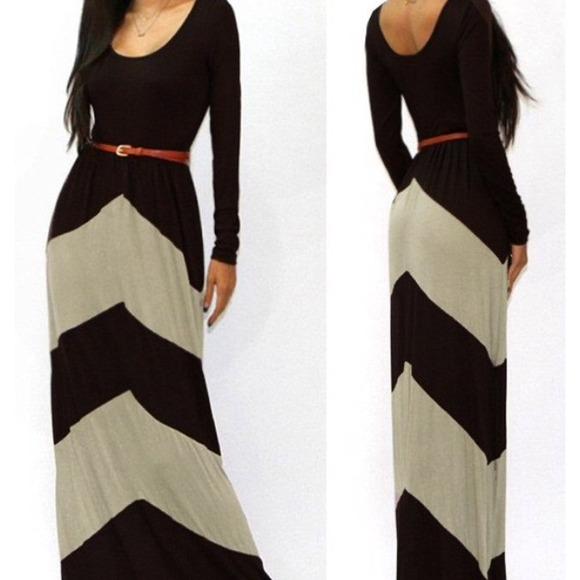 Long sleeved maxi dress plus size