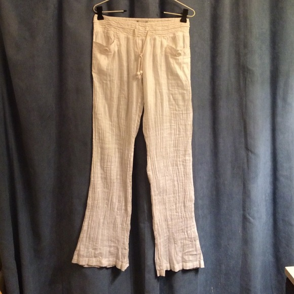 64% off Billabong Pants - White linen pants from Megan's closet on ...