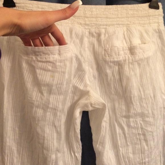 64% off Billabong Pants - White linen pants from Megan's closet on ...