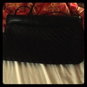 Vintage black woven bag