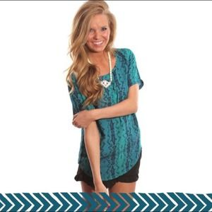 Shop RiffRaff Tops - Snake Print Top