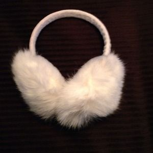 Accessories - NWOT Real Rabbit Fur Ear Muffs