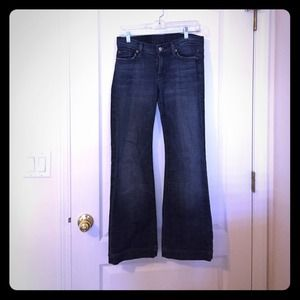 7 for all mankind flare jeans! Short length
