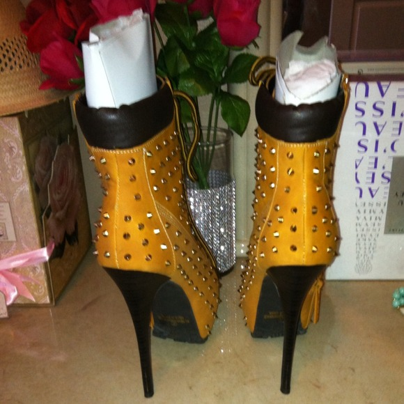 timberland spiked heels images