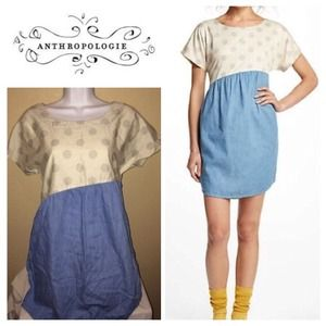 Anthropologie Dots & Chambray chemise