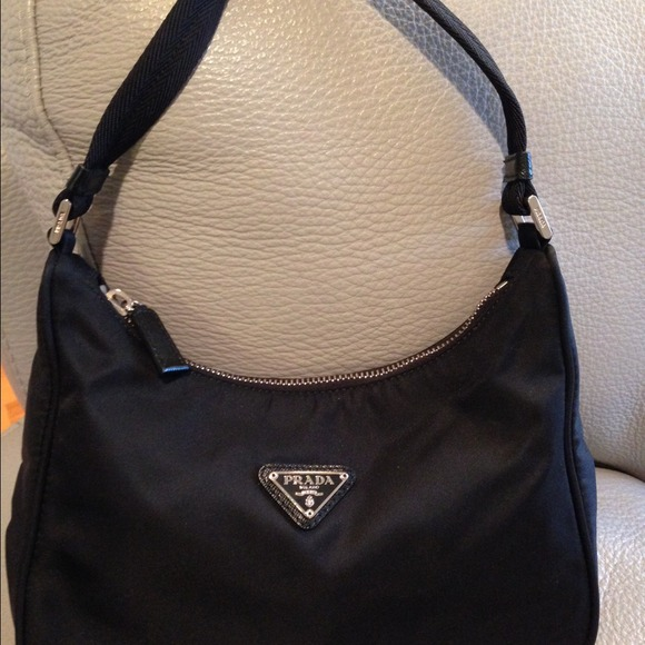 bed7f5934c533f authentic Prada mini hobo bag black nylon. M_545bb139bb27a4474e0f4e8d