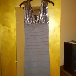 Gray a sequined dress