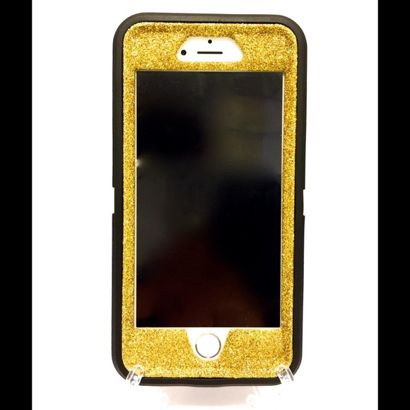 lowest price 664e9 0b7f4 iPhone 6 (4.7 )OtterBox Defender Case black / gold NWT