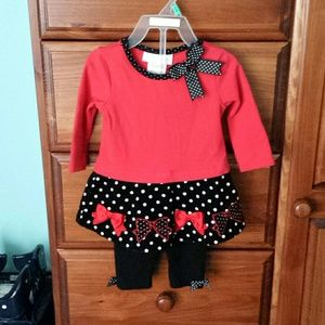 Boutique baby girl outfit. 6-9 months