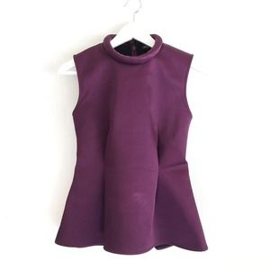 kate spade Tops - ✨HP✨ Kate Spade Saturday plum neoprene peplum top