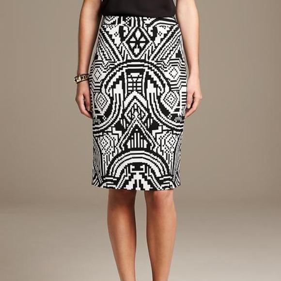 f14057395 Banana Republic Skirts | Geo Print Pencil Skirt | Poshmark