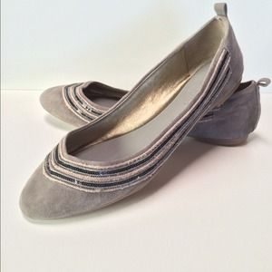 NEW, Banana Republic suede embellished flats