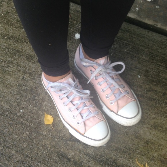 3a18a75c7e7770 Converse Shoes - Light pink converse sneakers sparkly laces