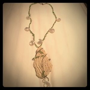 Handmade stone necklace