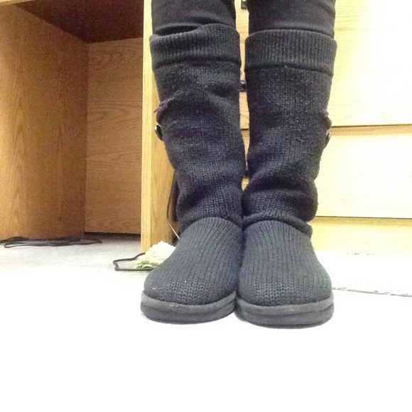 Women's Black Classic Cardy UGG Boots