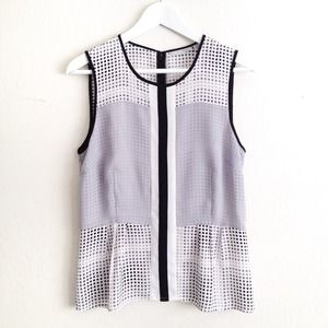 Halogen Tops - Halogen polka dot sleeveless top