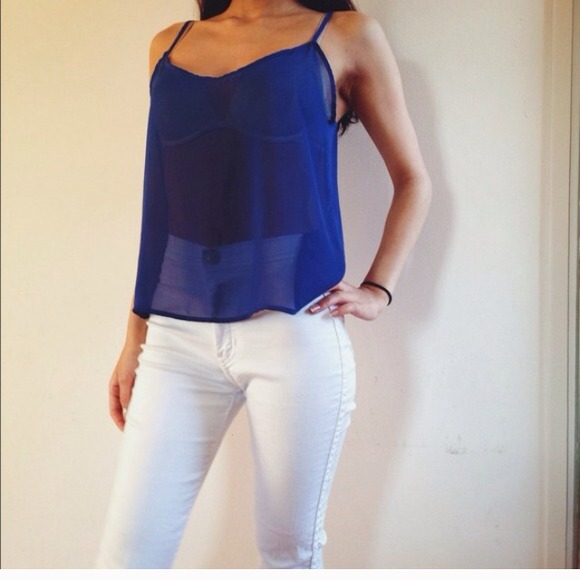 29% off American Apparel Pants - American Apparel White Easy Jeans ...