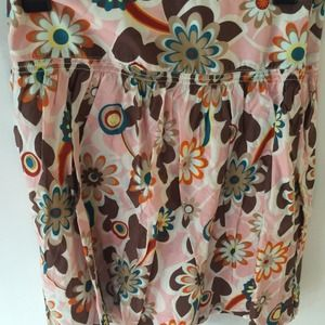 Cotton bold floral skirt