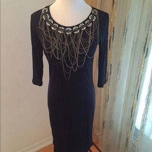 Catherine Malandrino Dress w/ Silver Chain Detail