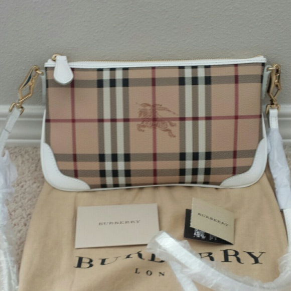 5557ecbdbdba 100% Authentic Burberry Haymarket Check Clutch Bag
