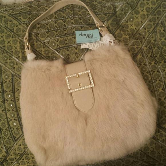 Diane Gail Bags Gorgeous Rabbit Fur Leather Bag Poshmark