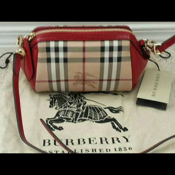 928b6f26a79a 100% Authentic Burberry Haymarket Mini Blaze