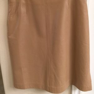 Jill Stuart 100% real leather skirt