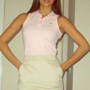 Lacoste pink sleeveless polo size 36
