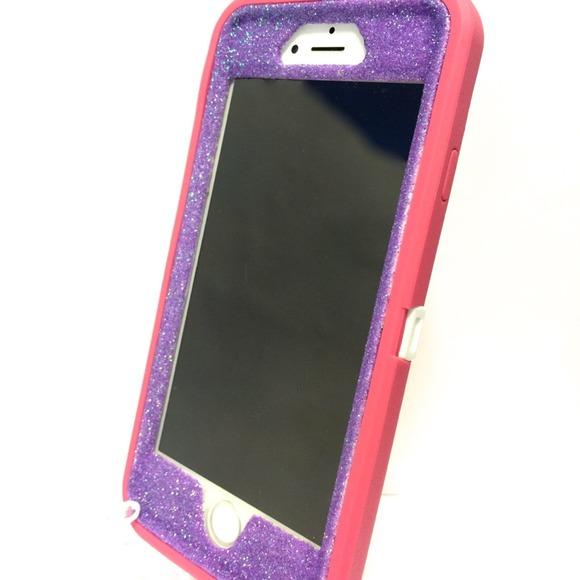 half off 6f4dd 5305b iPhone 6 Otterbox defender purple glitter case NWT