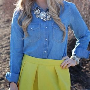 hinge Tops - The perfect chambray!