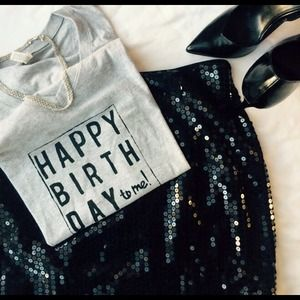 Happy birthday graphic tee featured in LuxeFinds!!