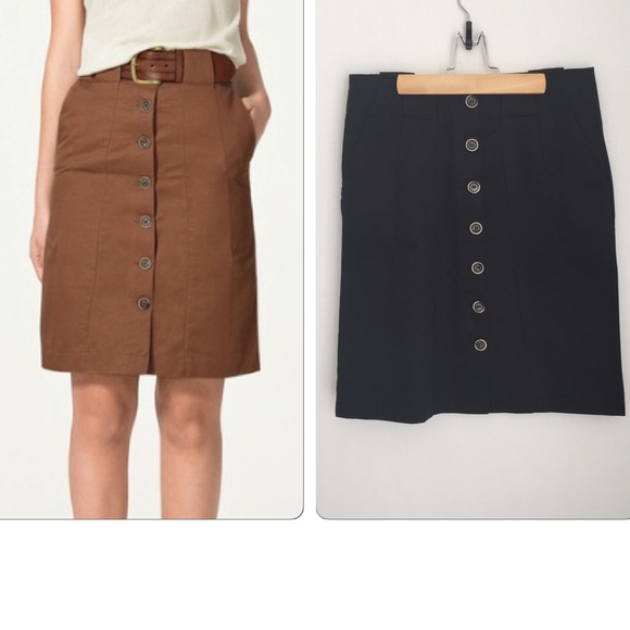 bcd3e4aaff77c1 Zara Black Front Button Pencil Skirt. M_545e4a5a2922dc28fc24de4d