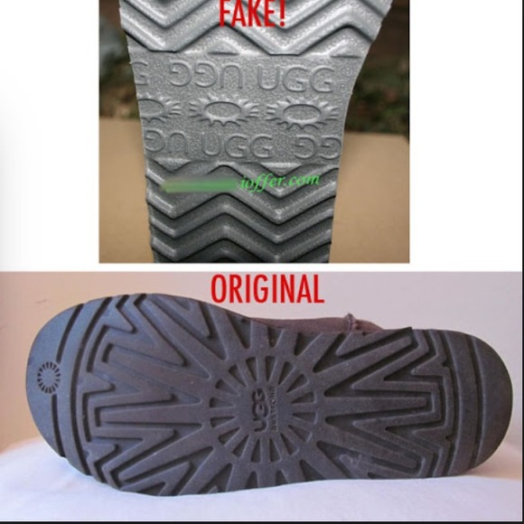 ugg fake and original