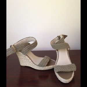 Sage green wedged sandal. Good condition. 8 1/2.
