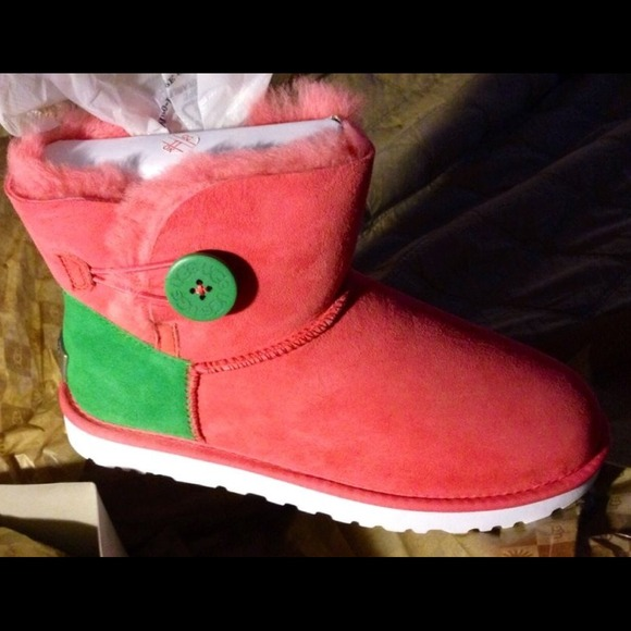 pink and green uggs