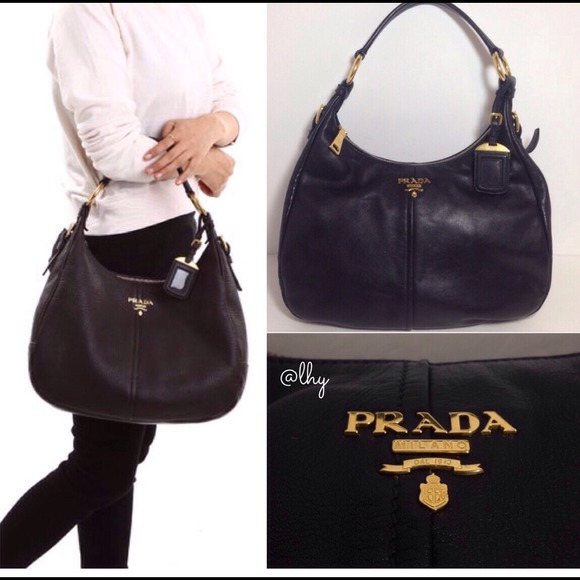31% off Prada Handbags - ❌SOLD❌PRADA SACCA SOFT CALF HOBO BAG ...