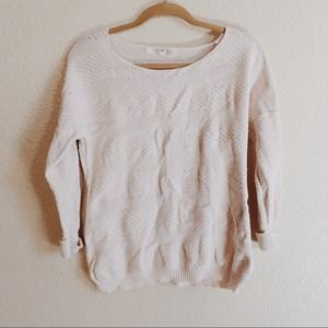 Sweaters - Cream Pullover Sweater