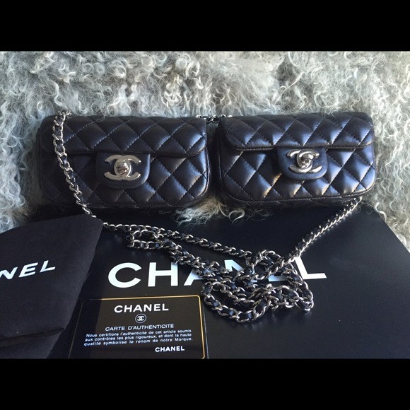 CHANEL Bags   Sold On Ebay Double Mini Cross Body Bag   Poshmark 7a0a919427