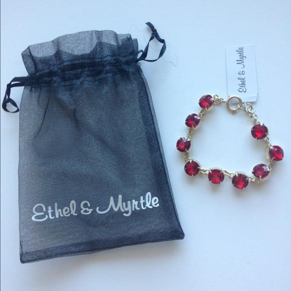 Ethel Amp Myrtle Jewelry Red Gem Ethel Myrtle Fashion