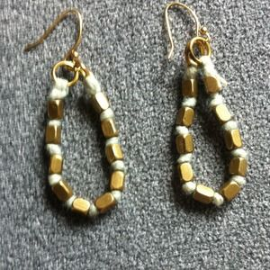 Jewelry - Gold Tone and Rope Earrings