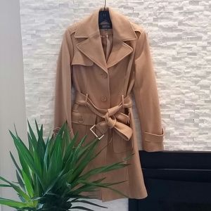 Kenneth Cole Reaction camel wool coat
