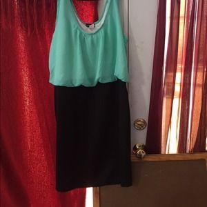 Wetseal blouse 2fer dress