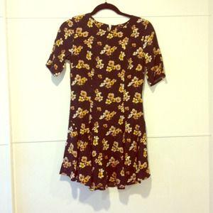NWOT Floral Drop-waist Dress