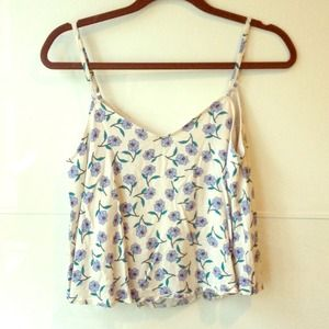 White Floral Cami