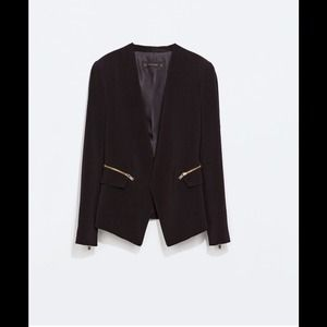 Blazer with zips from Zara