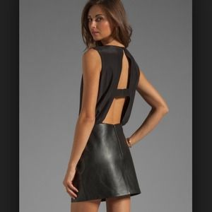 Parker Dress satin and leather it's just hot