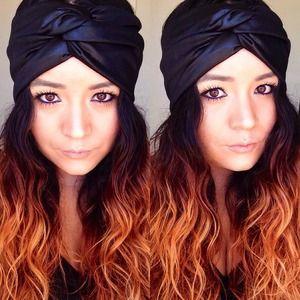 Faux turban in faux leather
